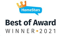 HomeStart best of award - Winner 2021 - Roofing Pros